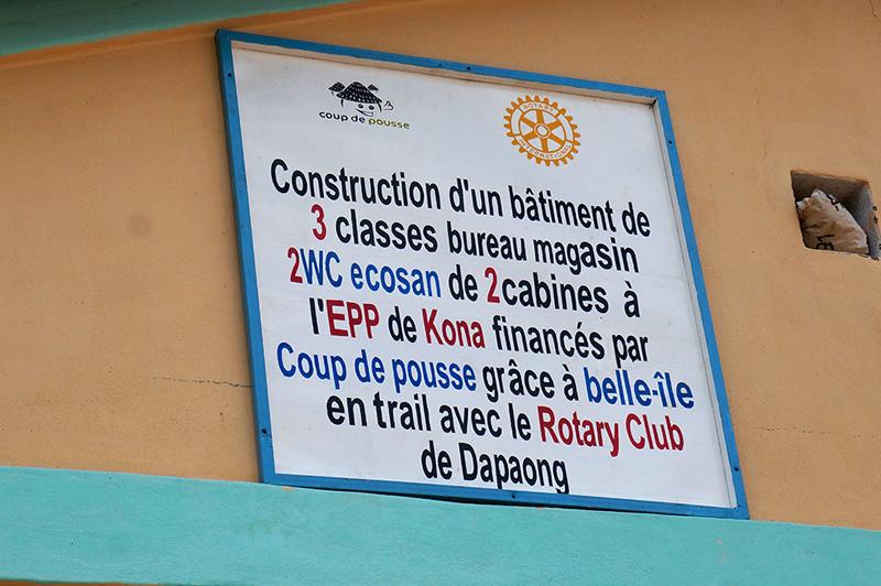 Donateurs de l'EPP école primaire de Kona Malabate, Région des Savanes, Togo