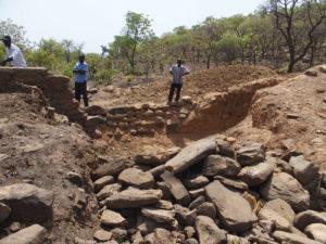 Retenue d'eau à Djapak à réparer, Région des Savanes, Togo