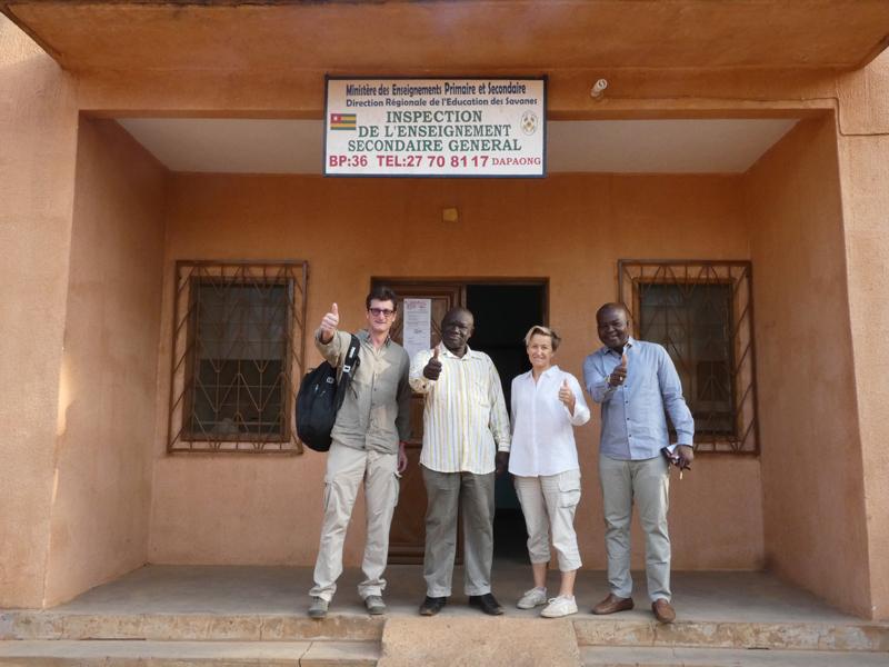 Inpection, l'éducation nationale, collège de l'Union des Plateaux, Région des Savanes, Togo