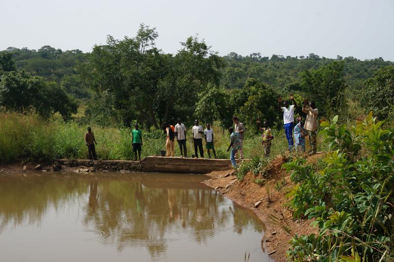 Retenue d'eau à Djapak, Région des Savanes, Togo