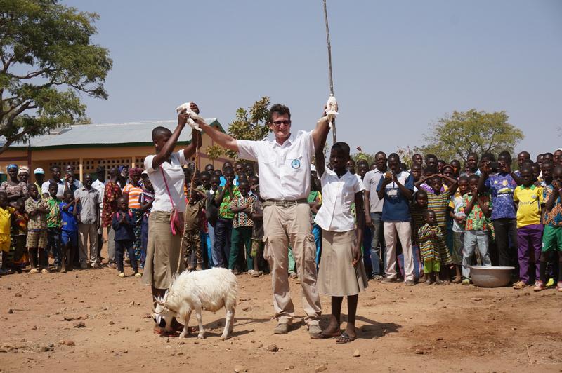 Inauguration de l'EPP école primaire de Kona Malabate, Région des Savanes, Togo