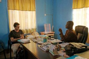 Dans le bureau du prefet, Monsieur Kolani, Région des Savanes, Togo