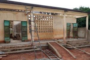 Rénovation d'un bâtiment et transformation en maternelle, Nagou, Togo.