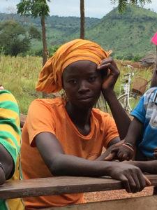 Réunion d'information, Kona et Malabate, région des Savanes, Togo.