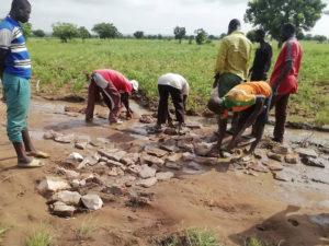 Réfection de la route, Région des Savanes, Togo