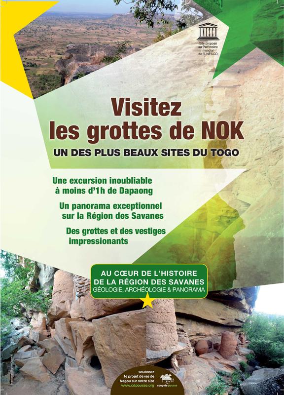 Visite des grottes de Nagou, affiche, Nok, Togo
