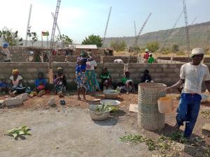 Construction de l'EPP école primaire à Kona, région des Savanes, Togo.