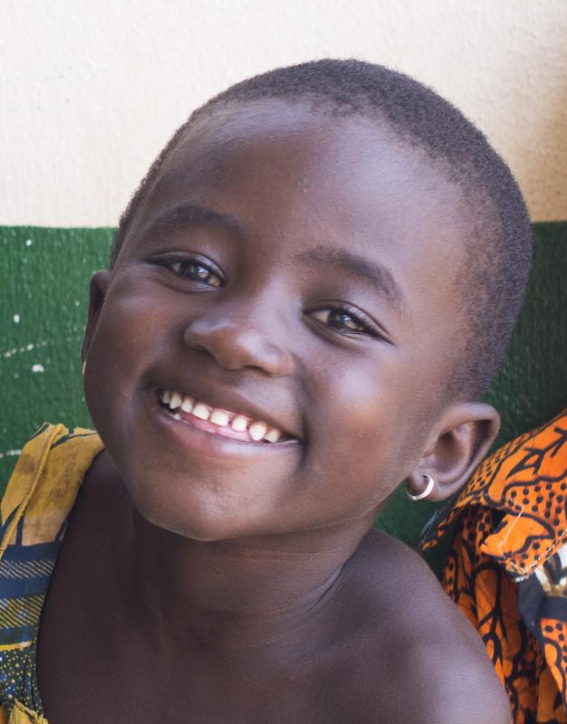 Sourire, maternelle, village de Nagou, Togo